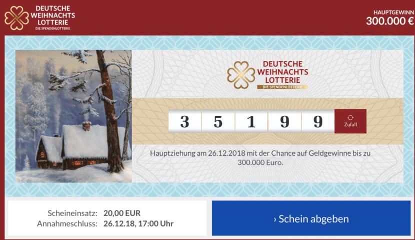 Lose der Deutschen Weihnachtslotterie