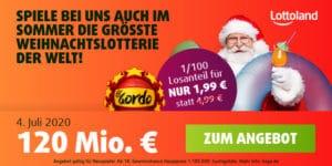 Sommerlotterie Lottoland Gutschein